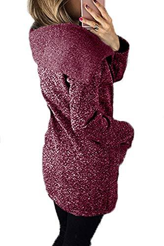 Longues Poches Elgante Longues Unicolore Outerwear Femme Manteau Coat D'Extrieur avec Purple Vtements Automne Fashion breal Roul Manches Fit Printemps Slim Col qWzOWwtSn