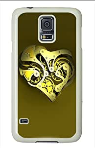 Best Top Samsung Galaxy S5 Cases and Covers Mechanical Heart PC Hard Plastic Case for Samsung Galaxy S5/ SV - White