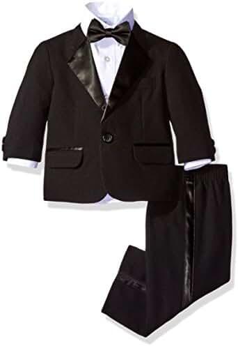 Nautica Baby Boys' Tuxedo Suit Set with Bow Tie