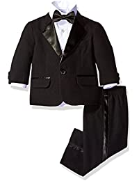 cc183f8c64d26 Baby Boys 4-Piece Tuxedo with Dress Shirt, Bow Tie, Jacket, and
