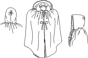 Girl's Short Cloak Pattern. Second half of the 18th Century.