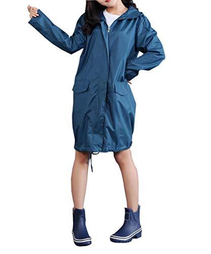 Libre Mirada Las Al Y Wasserblau Con Poncho Capucha Impermeables Mujeres Impermeable Aire Clásica Estilo De Especial Bobolily FRCIgn6