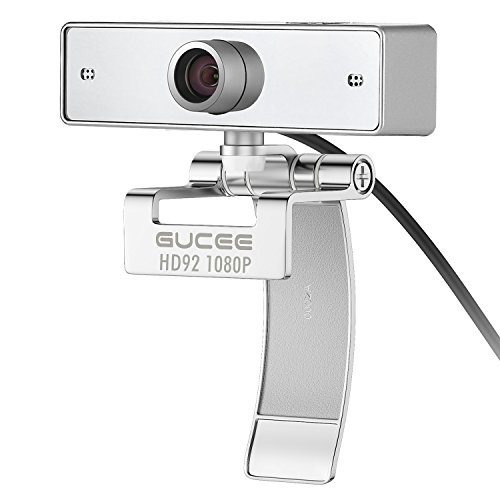 Webcam 1080P, GUCEE HD92 Full HD Web Camera with Microphone, Skype Webcams Crystal Clear Video Wide Angle, USB Web Cam for PC Laptop Desktop Notebook, Compatible with Windows 10 / 8 / 7 and Mac OS X