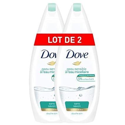 Dove Gel de ducha Set de 2 Micellaire piel sensible 750 ml ...