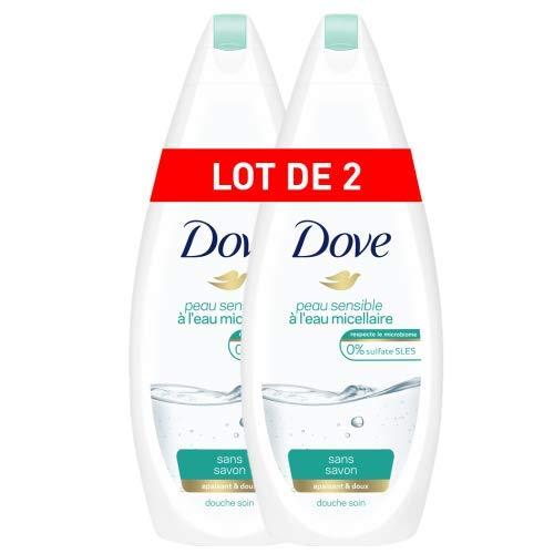 Dove Gel de ducha Set de 2 Micellaire piel sensible 750 ml: Amazon ...
