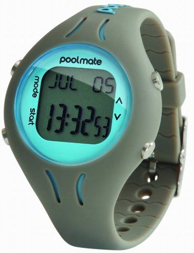 Swimovate Pool-Mate Swimming Computer Lap Counter Watch Gray