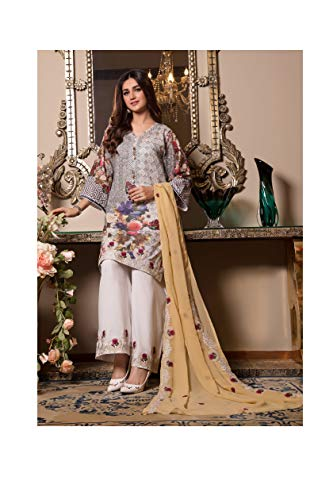 IshDeena Pakistani Dresses for Women Ready to Wear Salwar Kameez Ladies Suit - 3 Piece (Small, Black Yellow - Embroidery)