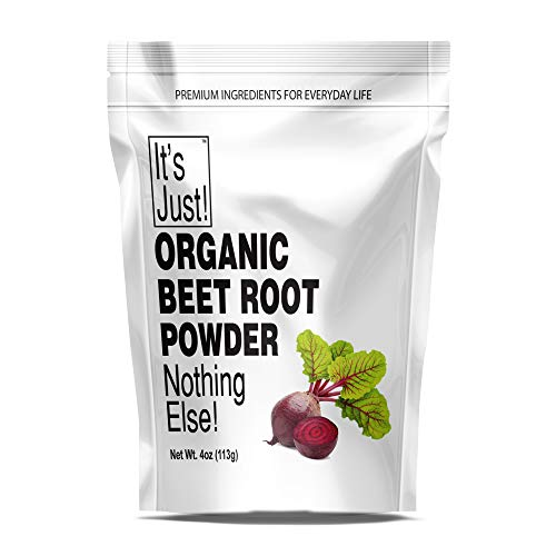It's Just – Organic Beet Root Powder, Freeze-Dried, Nitric Oxide Booster, All Natural, USA Grown Beets, 4oz