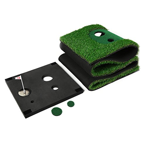 Golf Putting Mat,OUTAD Indoor Golf Training Mat Putting Green System Professional Golf Practice Mat Green Long Challenging Putter(1.6ftx10ft) by OUTAD (Image #6)