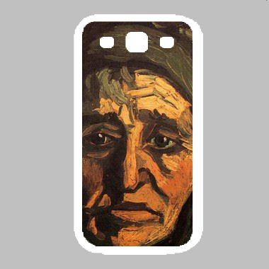 Head Of A Peasant Woman With Greenish Lace Cap By Vincent Van Gogh White Samsung Galaxy S3 Case