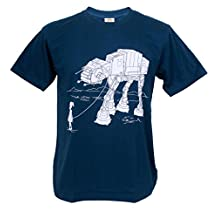 Tshirtmystyle- Funny Kid with AT-AT Pet Star Wars Man T-shirt
