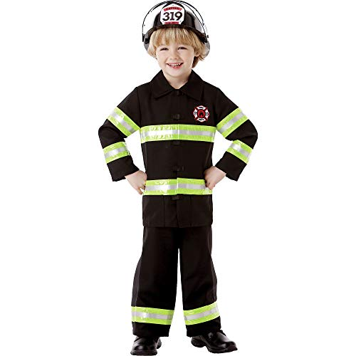 AMSCAN Reflective Firefighter Halloween Costume for Boys, Medium, with Included Accessories]()