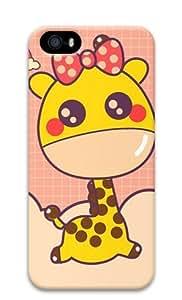 Sakuraelieechyan Cartoon Giraffe-2 Iphone 5 5S Hard Protective 3D Case wangjiang maoyi