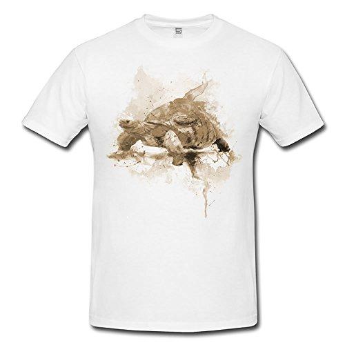 Turtle Lady T- Shirt , Stylisch aus Paul Sinus Aquarell Sepia Style