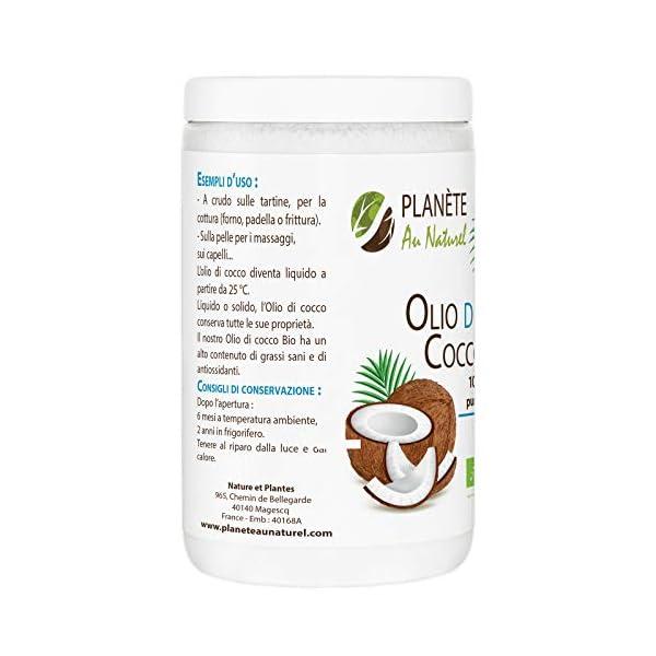 Olio di Cocco Bio - 1L - Extra Vergine 1000ml - Olio di Cocco Bio Nativo e non Raffinato 1L 2 spesavip