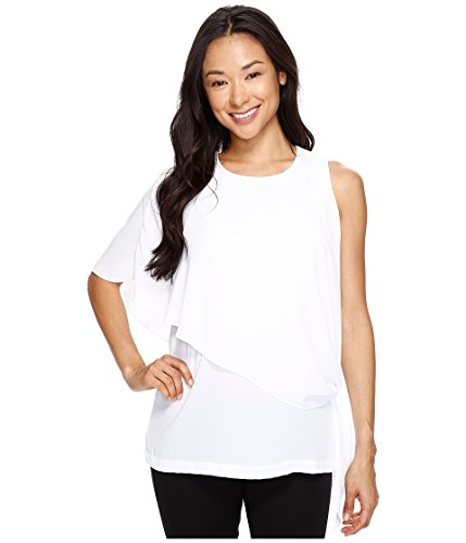 Karen Kane Women's Asymmetric Side Tie Top Off-White Shirt