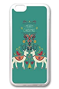 iPhone 6 Cases, Personalized Protective Soft Rubber TPU Clear Case Cover for New iPhone 6 4.7 inch Merry Christams01