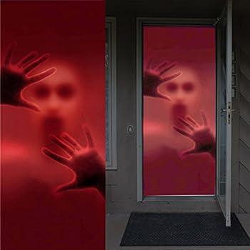 Joiedomi Halloween Haunted House Decoration Window Door Cover Creepy Skeleton 72X30 Inches