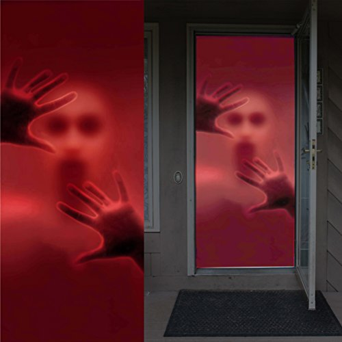 Window Decorations Halloween (Joiedomi Halloween Haunted House Decoration Window Door Cover Creepy Skeleton 72X30 Inches)