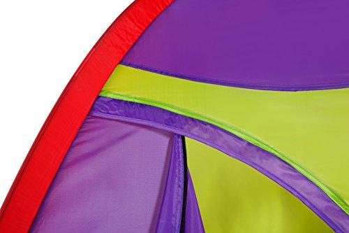 Alvantor Kids Tent Indoor Children Play Toy Toddler Pop up Outdoor Games Colourful Curvy Patent, Red, Orange,Purple,Green, 48'' 48'' 42'' by Alvantor (Image #8)