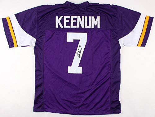 Case Keenum Autographed Signed Minnesota Vikings Jersey Memorabilia - JSA Authentic