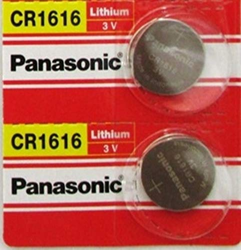 Panasonic CR1616 3V Coin Cell Lithium Battery, Retail Pack of 2 ()