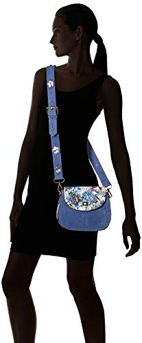 Shoppers Y Laura Mujer Hombro Bolsos Dieppe bleu Azul Vita De AxpwT4p