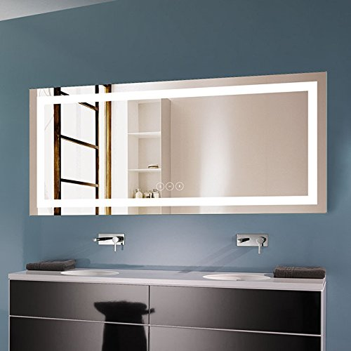 DP Home 71 x 32 in Horizontal Dimmable LED Bathroom Mirror with -