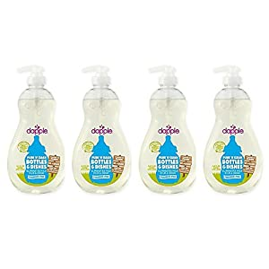 dapple 16.9 oz. Pure 'N' Clean Baby Bottles and Dishes Dish Liquid Cleaner in Fragrance-Free (4 pack)