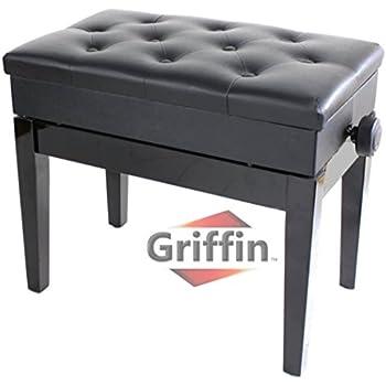 Amazon Com Premium Adjustable Antique Piano Bench By