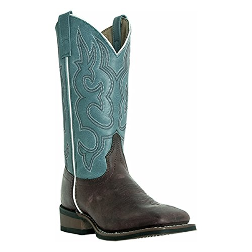 Laredo Mesquite Ladies River Blue Leather Boots 6 M