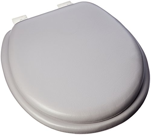 Ginsey Home Solutions Plastic Hinges, Silver Standard Soft Toilet Seat, Medium