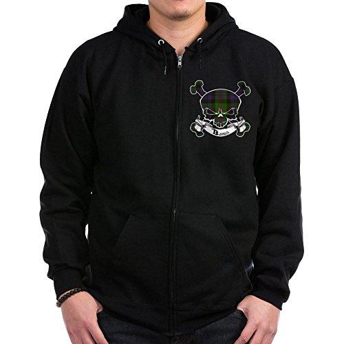 CafePress - Baird Tartan Skull Zip Hoodie (dark) - Zip Hoodie, Classic Hooded Sweatshirt with Metal ()