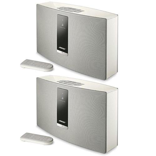Bose 2x SoundTouch 20 Series III Wireless Music System with Remote Control, White by Bose