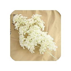 2Pc Artificial Cherry Blossom Branch Flower Wall Hanging Sakura 100Cm for Wedding Centerpieces Garden Decorative Flowers String 112