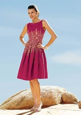 Scroll-Print Dress, Misses