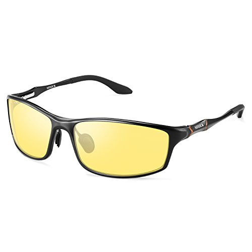 Polarized Night Driving Glasses Anti Glare Safety HD Night Vision Sunglasses (Black Frame2, - Special Glasses