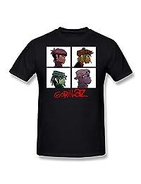 FUDI Men's Gorillaz Band ChakaKhan Crawley Noodle Murdoc Russel T-shirt - Black