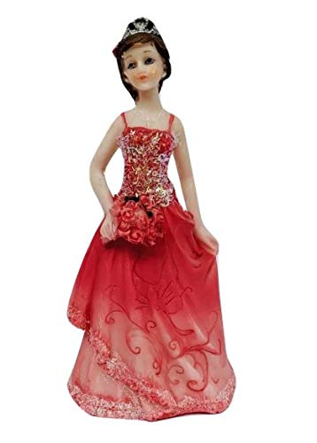 Sweet 16 Sixteen Mis Quince Anos Birthday Cake Top Fuchsia Girl Figurine Keepsake ()