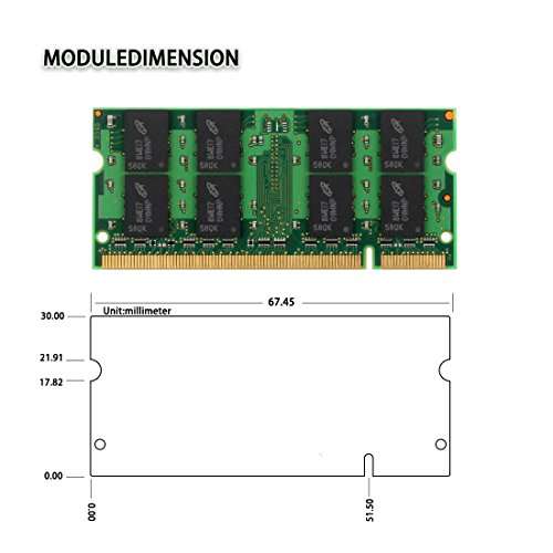 DUOMEIQI 4GB (2X 2GB) 2RX8 PC2-5300 PC2-5400 DDR2 667MHz CL5 200 Pin 1.8v SODIMM Notebook RAM Non-ECC Unbuffered Laptop Memory Module Compatible with Intel AMD and MAC System by D DUOMEIQI (Image #1)