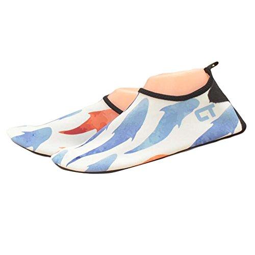Kreative Wasser Schuhe Sandalen Sommer Strand Schuhe Bademode Yoga Schuhe Weiß Blau