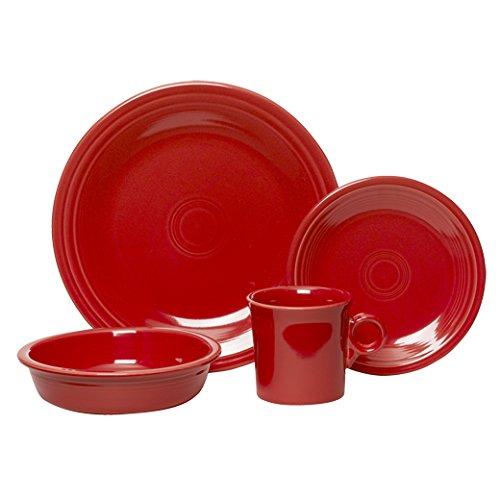 Fiesta 4-Piece Place Setting, Scarlet