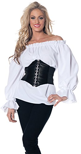 Underwraps Morris Renaissance Long Sleeve Costume, White, Small -