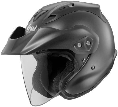 Arai CT-Z Open Face Motorcycle Helmet Black Frost XXL 2XL