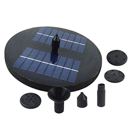 OUNONA 1.6W Solar Water Pump with LED Lights Outdoor Watering Submersible Water Fountain for Pond Pool Aquarium Fountains Spout Garden Patio ()