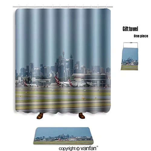 vanfan bath sets with Polyester rugs and shower curtain sydney australia march sydney airport with th shower curtains sets bathroom 36 x 72 inches&23.6 x 15.7 inches(Free 1 towel and - Airport Denver Shape