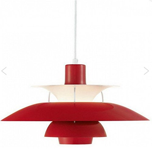 Reproduction PH 50 Lamp Modern Classic Scandinavia Style (Red) - Sandblasted Pendant Lamp