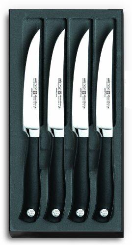 Wusthof Grand Prix II Four Piece Steak Knife Set, Hollow Ground