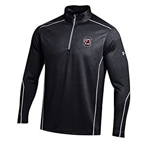 NCAA South Carolina Fighting Gamecocks Men's Golf Validate 1/4 Zip Mock, Large, Black