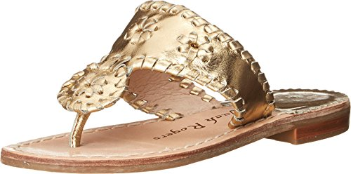 Jack Rogers Girls' Miss Hamptons II Sandal, Gold, 3 M US Little Kid